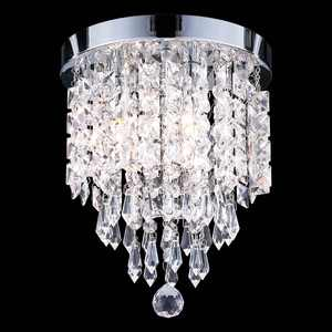 UL Listed 3-Light Crystal Chandelier Ceiling Fixture Pendant