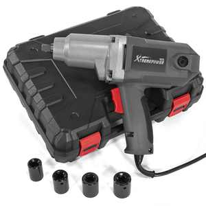 """Electric 1/2"""" Drive Impact Wrench Corded Impact Tool with (4pcs) Sockets 300 N.M Torque and Case"""