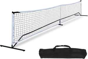 ZenStyle 22FT Portable Pickle ball Net Soccer Tennis Net Game Set System with Metal Frame Stand and Carrying Bag for Pickle ball, Kids Volleyball, Badminton, Tennis