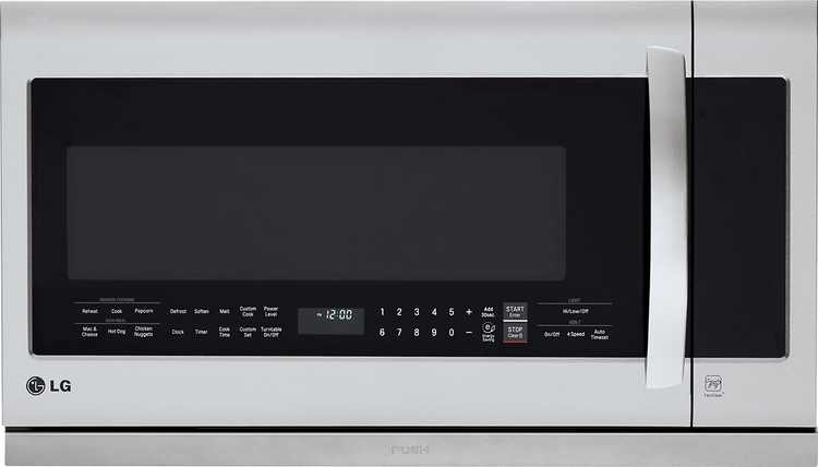 LG - 2.2 Cu. Ft. Over-the-Range Microwave - Stainless steel