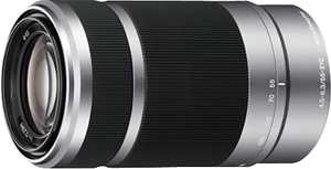 Sony - 55-210mm f/4.5-6.3 Telephoto Lens for Most Alpha E-Mount Cameras - Silver