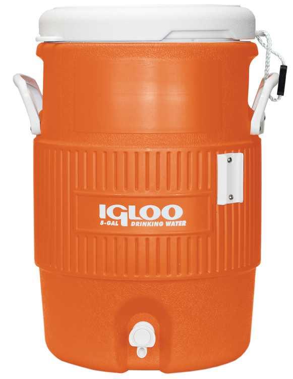 Igloo 5-Gallon Heavy-Duty Beverage Cooler - Orange