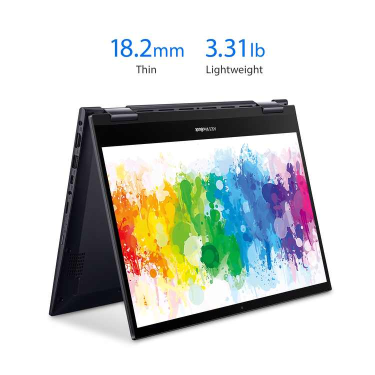 "ASUS 14"" Ryzen 5 2-in-1 8GB/256GB Laptop; ASUS VivoBook Flip 14 Thin and Light 2-in-1, 14"" FHD Touch, AMD Ryzen 5 5500U, 8GB DDR4 RAM, 256GB SSD, Fingerprint, Windows 10 Home, TM420UA-WS51T, Black"