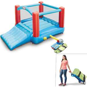 Little Tikes Pack 'N Roll Inflatable Bounce House w/Wheeled Carry Case