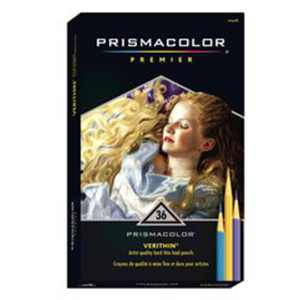Prismacolor Verithin Colored Pencil Set, 36-Colors