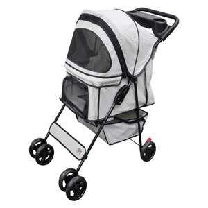 Go Pet Club Pet Stroller , Beige