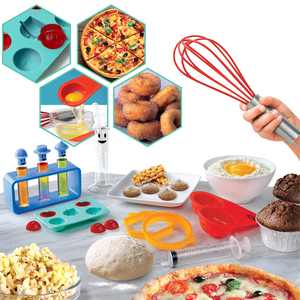 Discovery #MINDBLOWN Food Science Kit, Lab Experiments with Edible Results, Real Kitchen Ingredients with 22 Tools Included