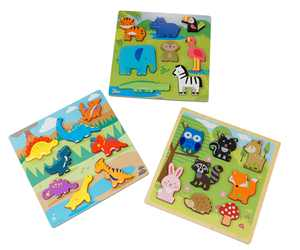 Spark Create Imagine Sprk Chunky Wooden Puzzle 3-pack Bundle