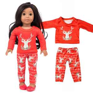 FollureChirstmas Clothes Pants Shirt For 18 Inch American Boy Doll Accessory Girl Toy