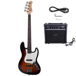 Glarry Beginner Electirc Bass Guitar w/ 20W Amp and Accessories,Sunset