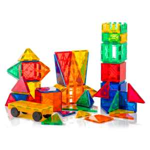 Tytan Magnetic Learning Tiles 60 Piece Building Set Focused on STEM Education w/ Included Car & Carrying Bag
