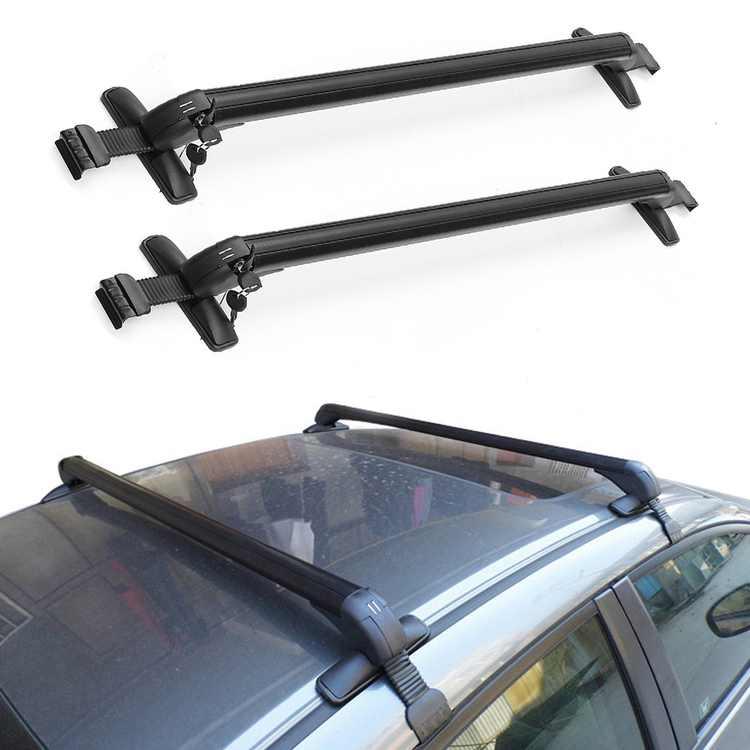 "1Pair Aluminum Car Top roof crossbar Luggage Roof Rack Cross Bar Carrier Adjustable Window Frame Roof Width 42.5""-44"""