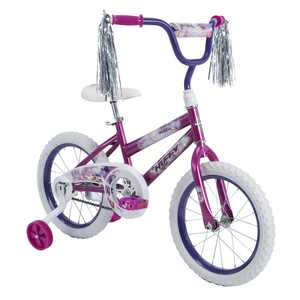 "Huffy 16"" Sea Star Girl's Bike, Metallic Purple"