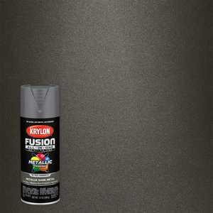 Krylon Fusion All-In-One Spray Paint, Metallic Dark Metal, 12 oz.