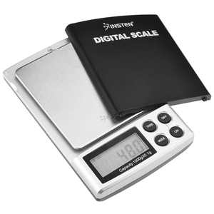 Insten Digital Pocket Scale 1000g / 0.1g Portable Mini Scale for Jewelry Food Cooking Baking  Mail Stainless Steel Salver & 5 unit selection: g oz ozt dwt ct Food Scales in grams and ounces