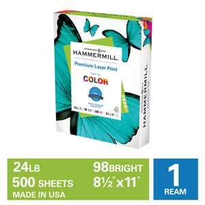 Hammermill Printer Paper, 24lb Premium Laser Copy Paper, 8.5x11, 1 Ream