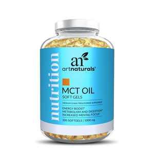 Artnaturals MCT Oil Coconut Softgel Capsules Keto Diet Supplement (300 Caps)