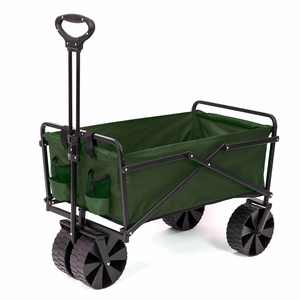 Seina Collapsible Steel Frame Utility Cart - Green