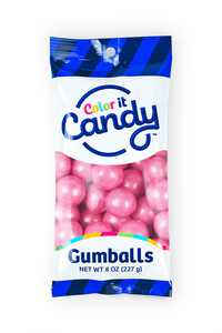 Color It Candy Bright Pink Gumballs Peg