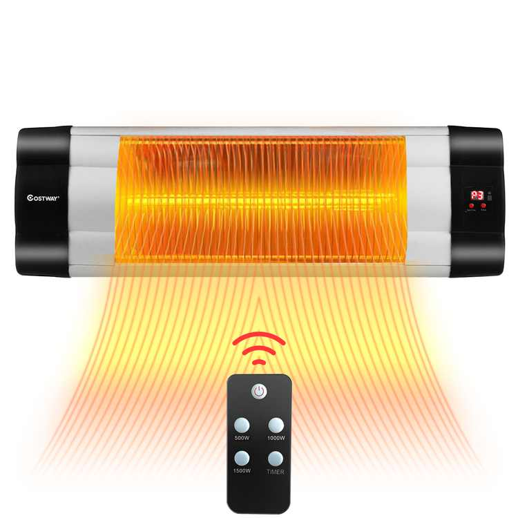 Costway 1500W Infrared Patio Heater Remote Control 24H Timer