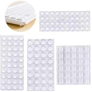Cusimax 160Pcs Drawer Cabinet Door Bumpers Self-Adhesive Furniture Pad Rubber Anti-Collision Non-slip Mat