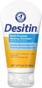DESITIN Multipurpose Baby Diaper Rash Ointment with White Petrolatum Skin Protectant, 3.5 oz (Pack of 4)