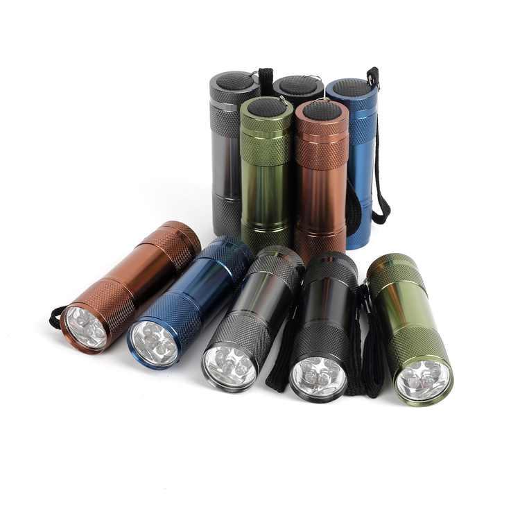 Ozark Trail 10-Pack Aluminum Mini LED Flashlight, 30 Lumen, 5 Colors, Model 4245