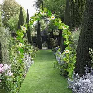 """Costway 8'4"""" Steel Rose Garden Arbor"""