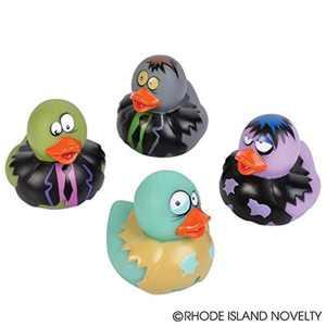 """2"""" Zombie Rubber Duckies (12 Piece), rubber By Rhode Island Novelty"""