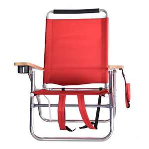 Peerless 505BC-RED 35 x 20 x 27.5 in. Classic Beach Chair - Red
