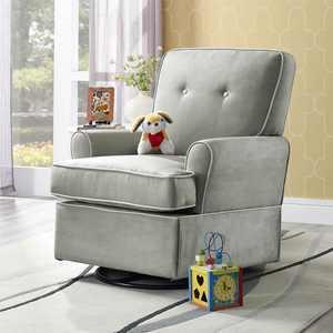 Baby Relax Tinsley Swivel Glider Gray