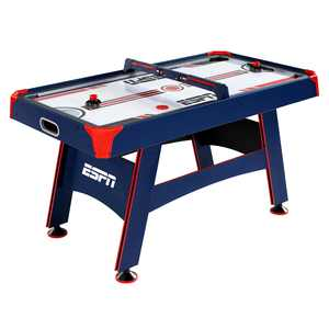 """ESPN Air Hockey Table, Overhead Electronic Scorer, Blue/Red, 60"""" size, Air Powered Hockey"""