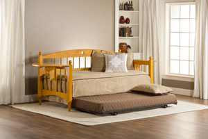 Hillsdale Furniture Dalton Oak Finish Wood Twin Daybed with Side Trays