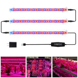 LED Grow Light Strips 90-Bulb Red Blue Spectrum Plant Growing Lamp for Indoor Plants with Timer