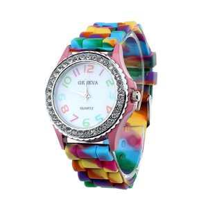 MIARHBWomen Geneva Silicone Crystal Bling Analog Digital Quartz Wrist Watch PP ( watch for women )
