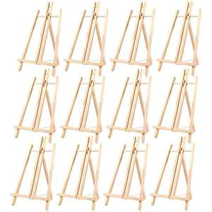 Wood Easels, Easel Stand for Painting, Art, and Crafts (9 x 14.8 in, 12 Pack)