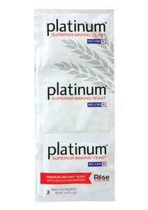 Red Star Platinum Yeast, Premium Instant, with Dough Enhancers - three 0.25 oz packages [0.75 oz]