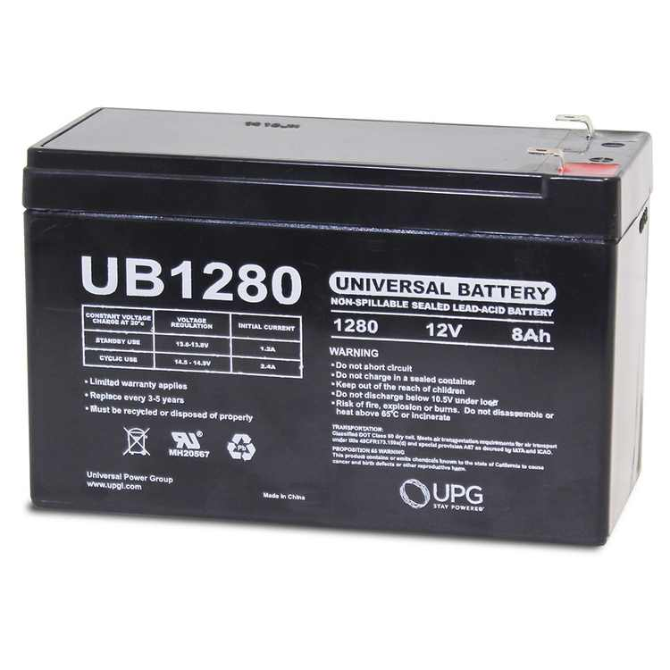 12V 8AH SLA Replacement for Power Patrol Backup Battery SLA1075