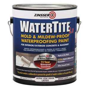 ZINSSER 270267 1 Gal. Mold and Mildew-Proof White Water Based Waterproofing Paint