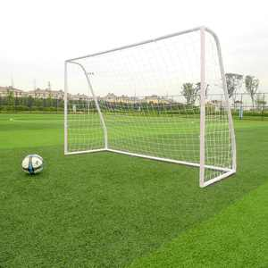 Zimtown 8' x 5' x 2.7' Portable Soccer Goal, Lightweight Professional Football Practice Training Aid Post Net, with Net Straps Anchor, for Outdoor Kids/Children Youth Foosball Sports, White