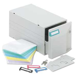 Innovera CD/DVD Storage Drawer, Holds 150 Discs, Light Gray