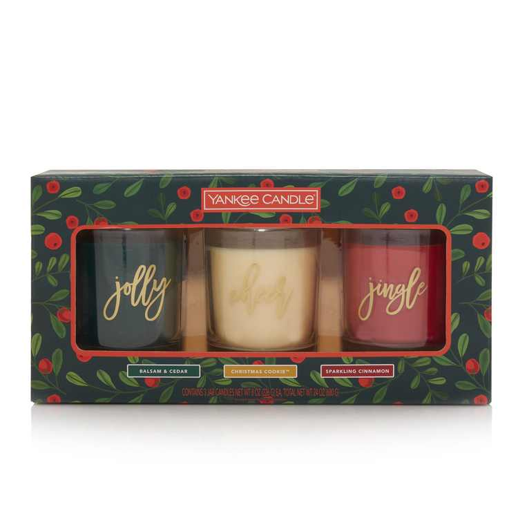 Yankee Candle 3-Pack Holiday Gift Set