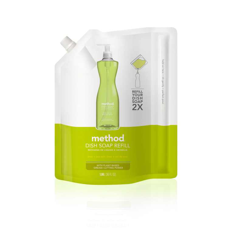 Method Gel Dish Soap Refill, Lime + Sea Salt, 36 Ounces