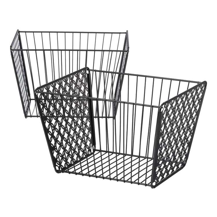 Mainstays Large Designer Sheet Metal Cutout Basket, 2 Pack, Multiple Finishes