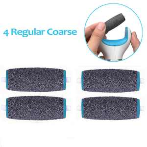 4Pcs Perfect Electronic Foot File Refills Regular Coarse Replacement Refill Roller for Daily Maintenance