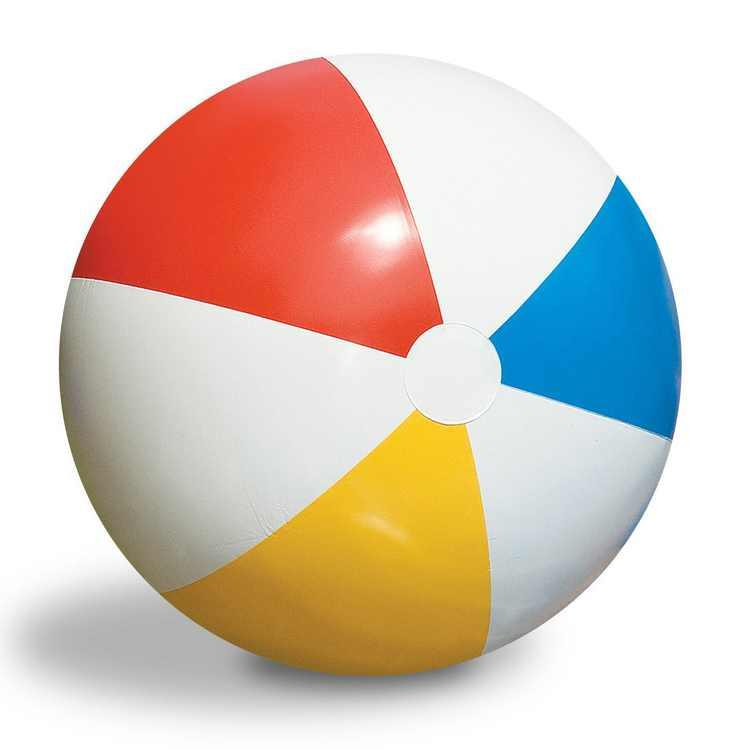 Swimline Inflatable 36-Inch Classic Rainbow Beach Ball For Pool/Lake | 90036