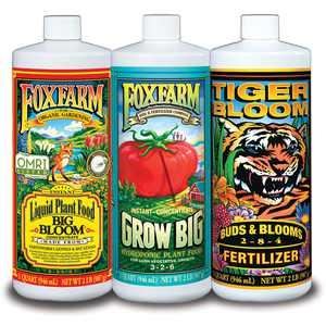 FoxFarm Hydro Formula Nutrients Trio 3 Quarts Liquid Plant Fertilizers | FX14050