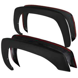 Spec-D Tuning 4PC Front + Rear Factory Style Fender Flares for 1999-2007 Chevy Silverado GMC Sierra