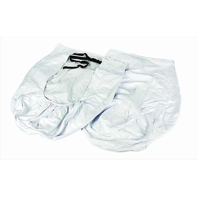 """Camco 45324 33-35"""" Wheel and Tire Protector Covers - Arctic White Vinyl, 2-Pack"""
