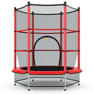 Gymax Kids Youth Jumping Round Trampoline Exercise W/ Safety Pad
